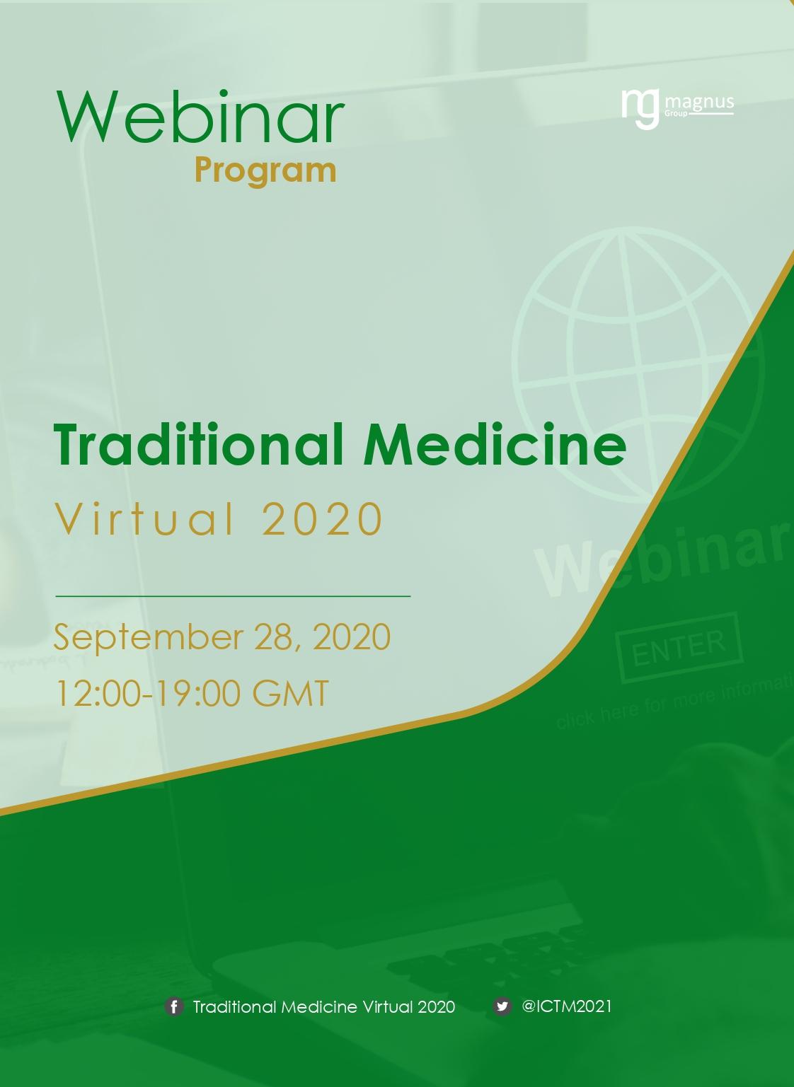 International Webinar on Traditional Medicine, Ethnomedicine and Natural Therapies | Online Event Program